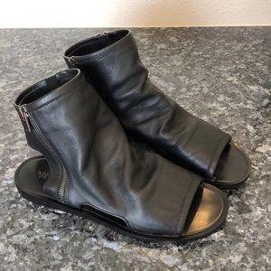 Vince open toe bootie flat sandal